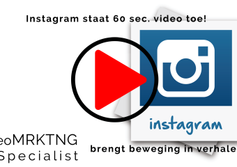 Vlog: Instagram staat 60 sec video's toe